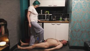 sirclaire slippertrampling2 300x169 - First time Kitchen Trampling