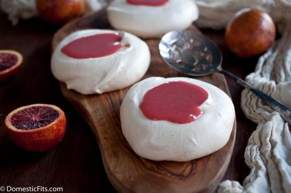 Miniature Pavlovas with Blood Orange Curd3