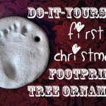 DIY First Christmas Baby Footprint Tree Ornament