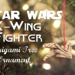 Star Wars Origami X-Wing Fighter Tree Ornament