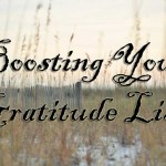 Boosting Your Gratitude List