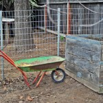 Using a Vintage Citrus Crate for Our Backyard Compost Bin
