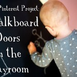 Easy Pinterest Project: Chalkboard Doors in the Playroom