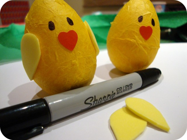 add foam wings to your Easter chicks