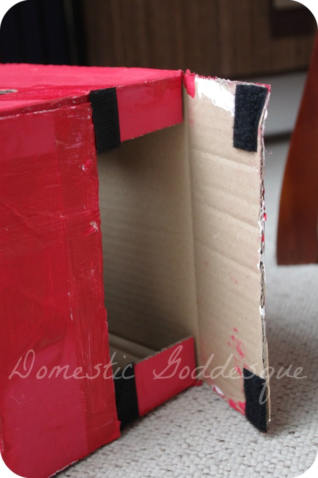 velcro fastening for box