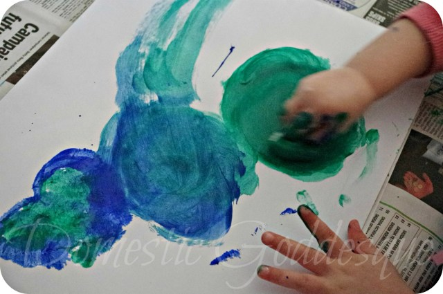 smudging paint with cotton wool