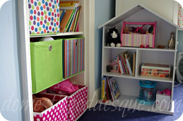 doll house bookcase for small item storage