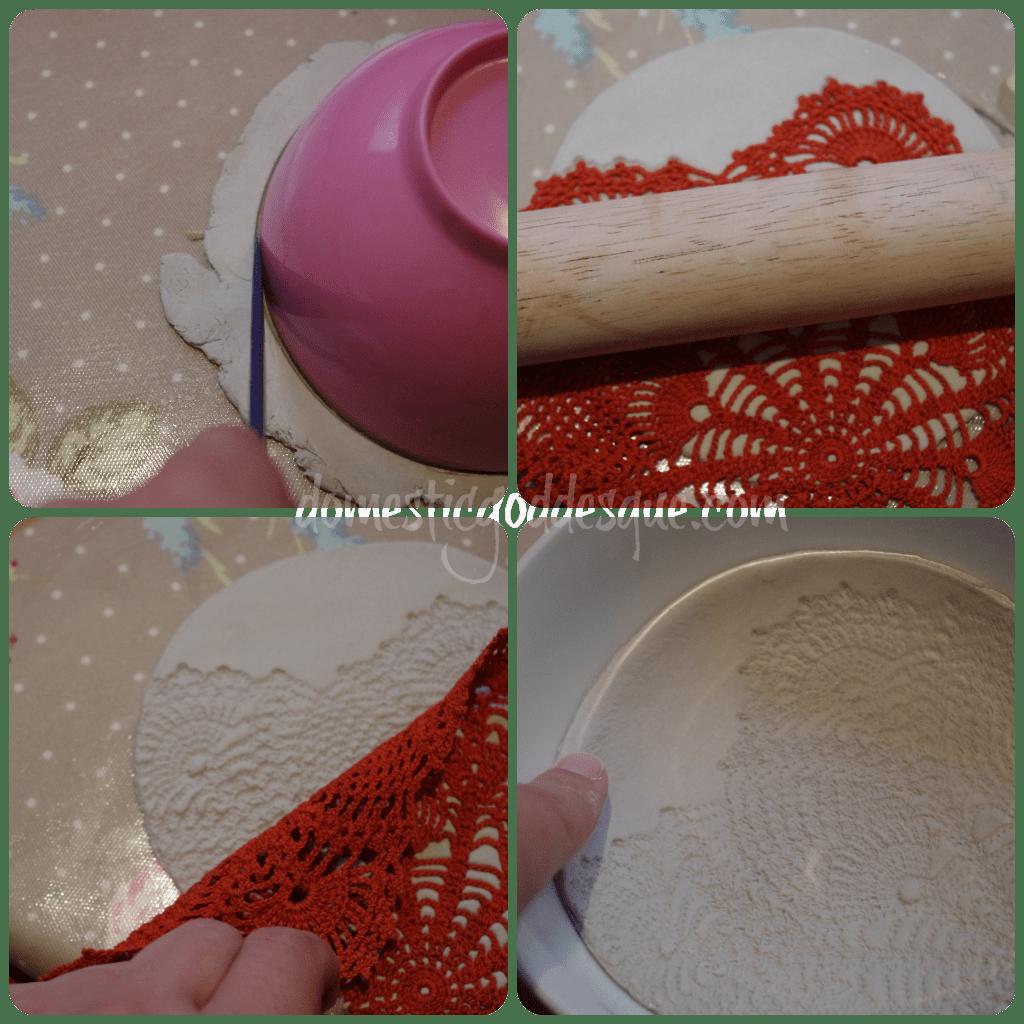 air drying clay ring bowl