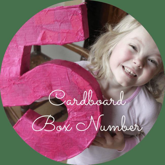 cardboard box number tutorial