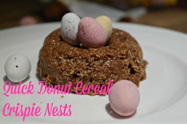 Quick donut Cereal Crispie Nests