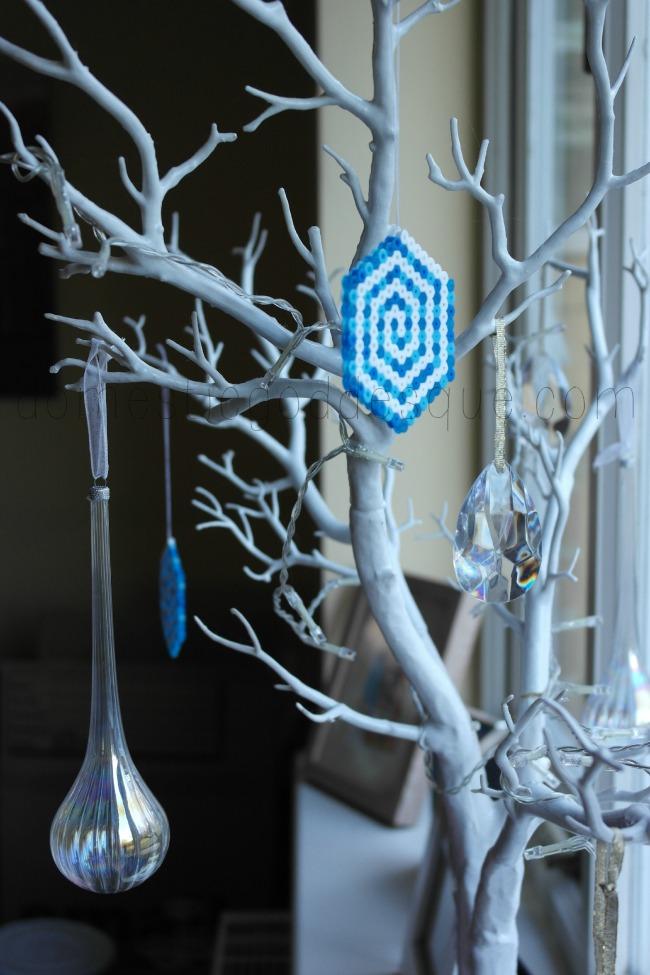 Frozen Fractals Hama Bead Tree Decoration