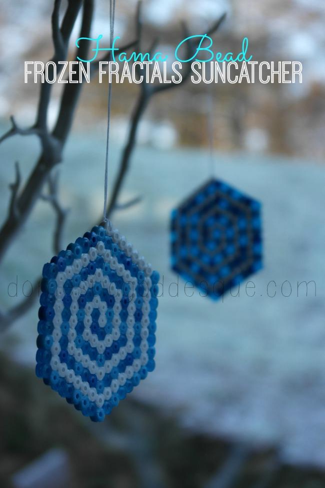 Hama Bead Frozen Fractals Suncatcher