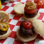 Micro burgers and hot dogs