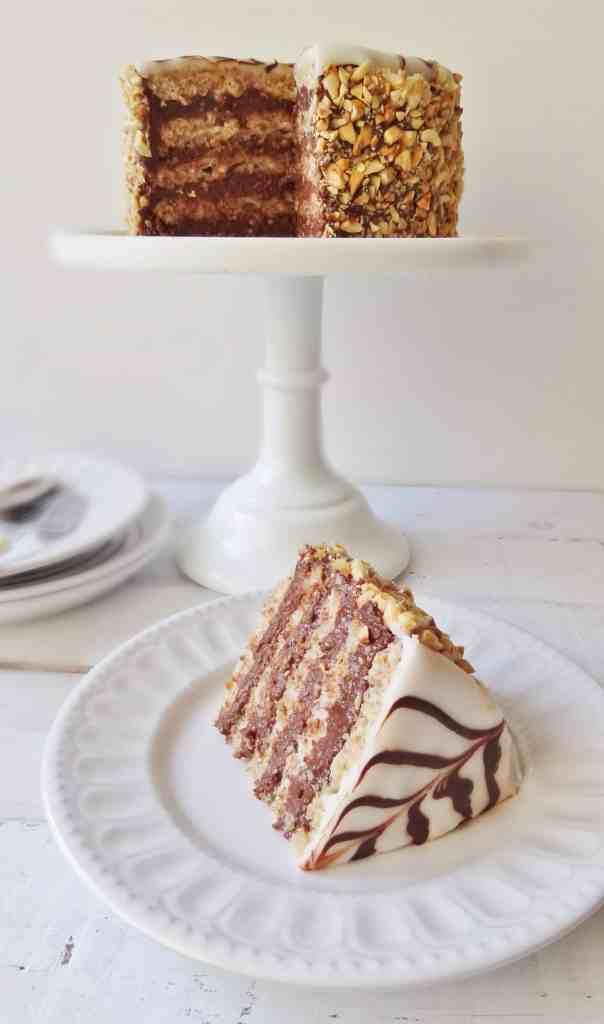 chocolate hazelnut esterhazy torte