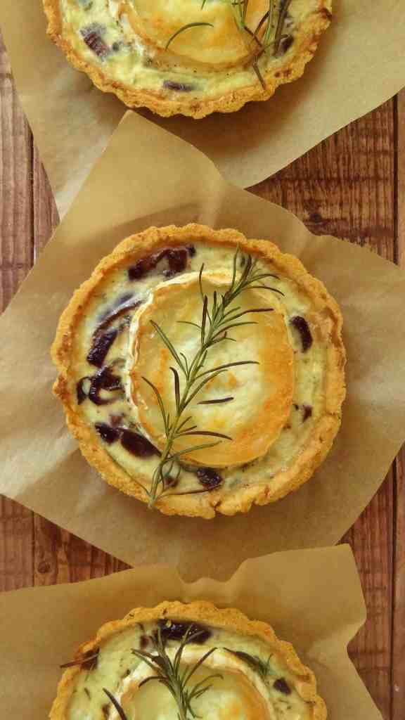 caramelized red onion goats cheese tarts