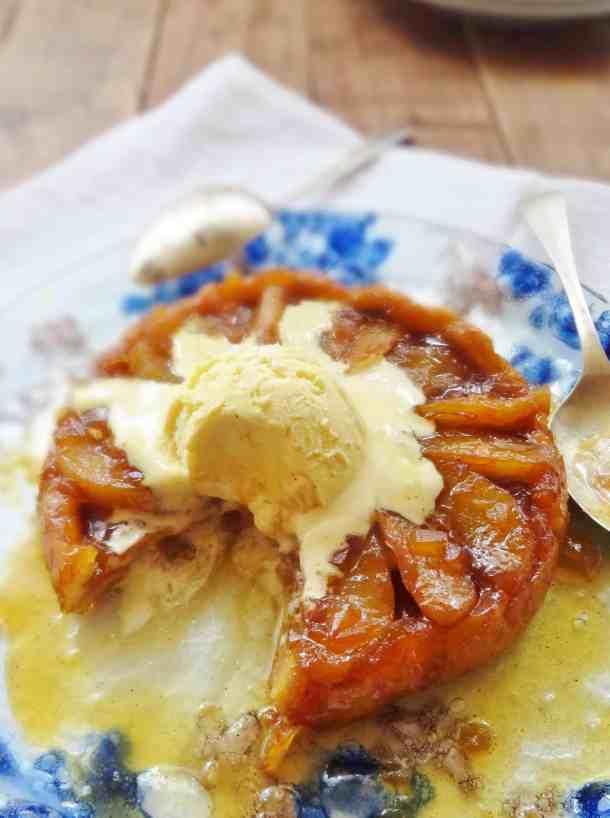 pear & ginger tarte tatin for two