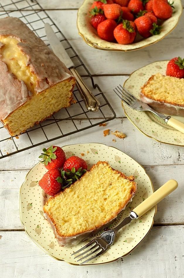 Cardamom and lemon sour cream pound cake