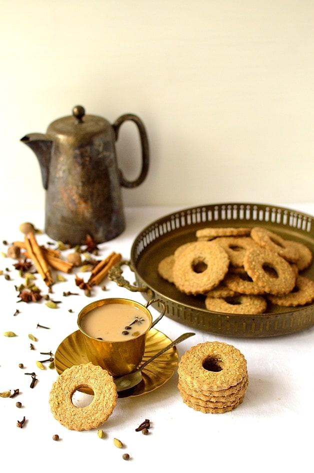 Masala chai tea spiced rye shortbread cookies -Domestic Gothess