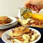 Banana pancakes with honey butter, a quick, easy, healthy(ish) breakfast - Domestic Gothess
