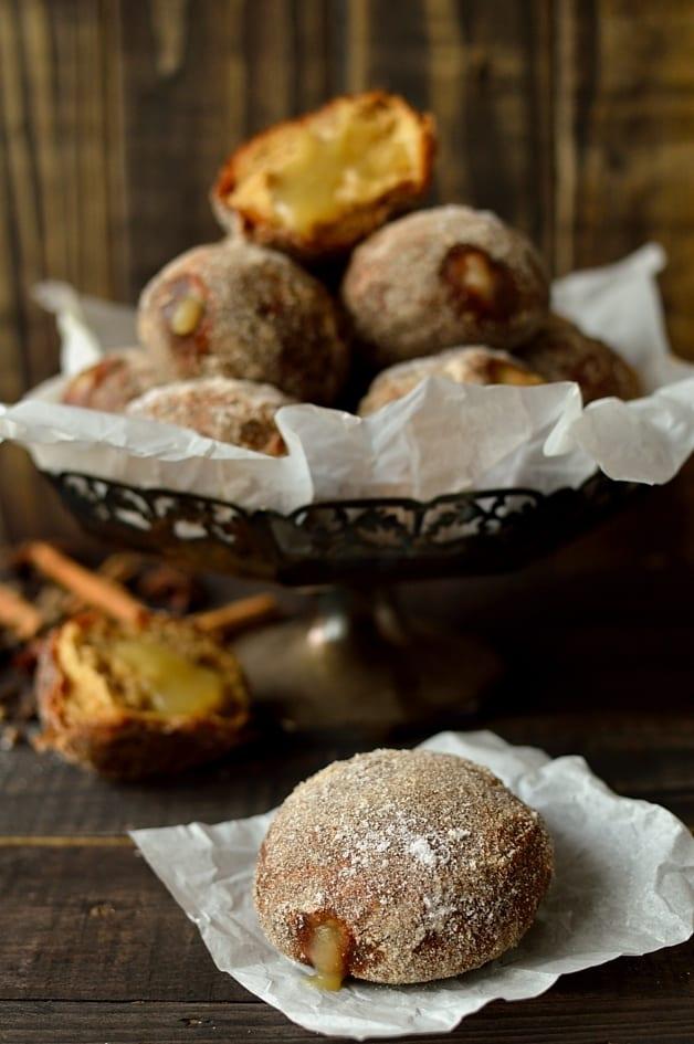 Gingerbread spiced apple doughnuts