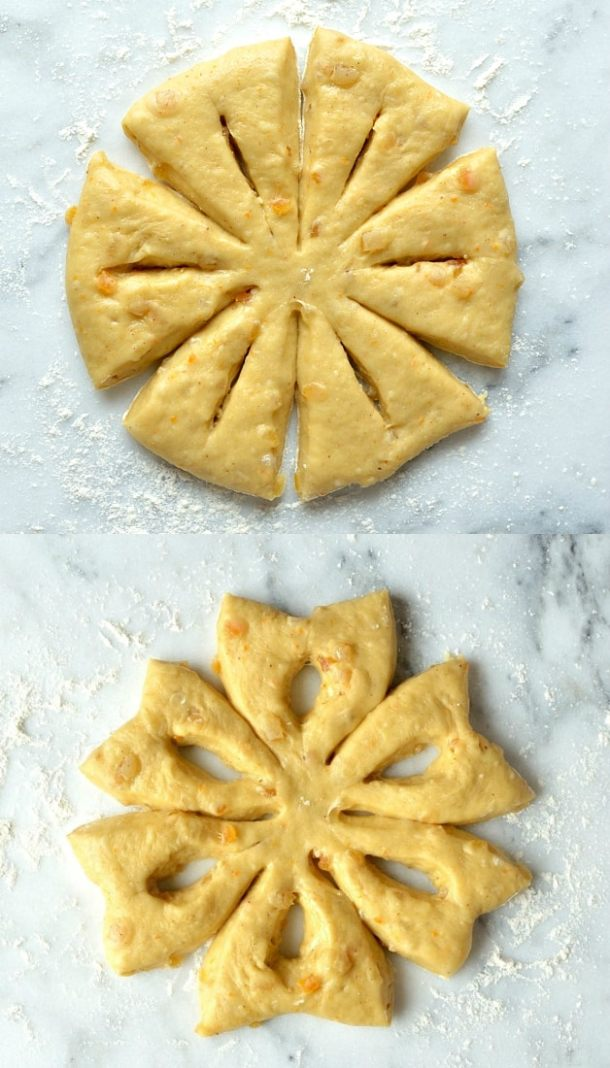 orange anise snowflake bread