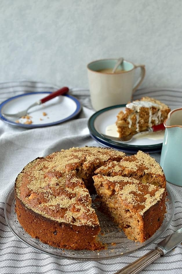 Easy, one-bowl wholemeal spiced apple coffee cake
