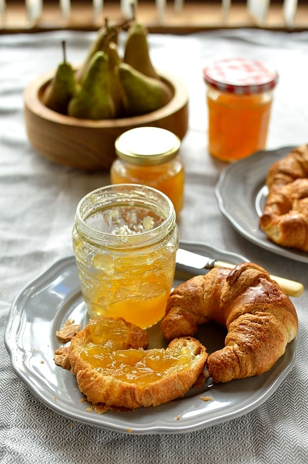Pear and ginger jam - small batch, no added pectin, this jam makes a great Christmas gift.