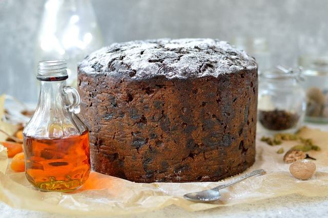Make and mature rich Christmas fruitcake packed with rum soaked fruit