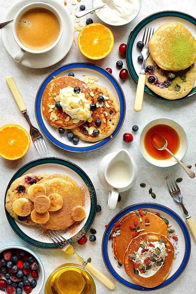 Healthy superfood pancakes - an indulgent breakfast that is packed full of nutritious ingredients, eating healthily doesn't need to be boring!