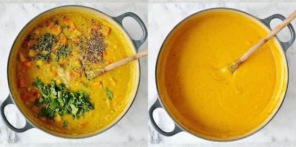 spiced red lentil root vegetable soup step 3