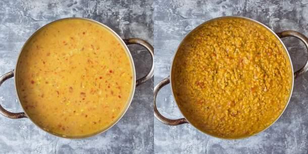 red lentil dhal step 2