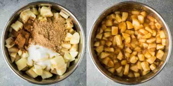 vegan pentagram apple pies step 1