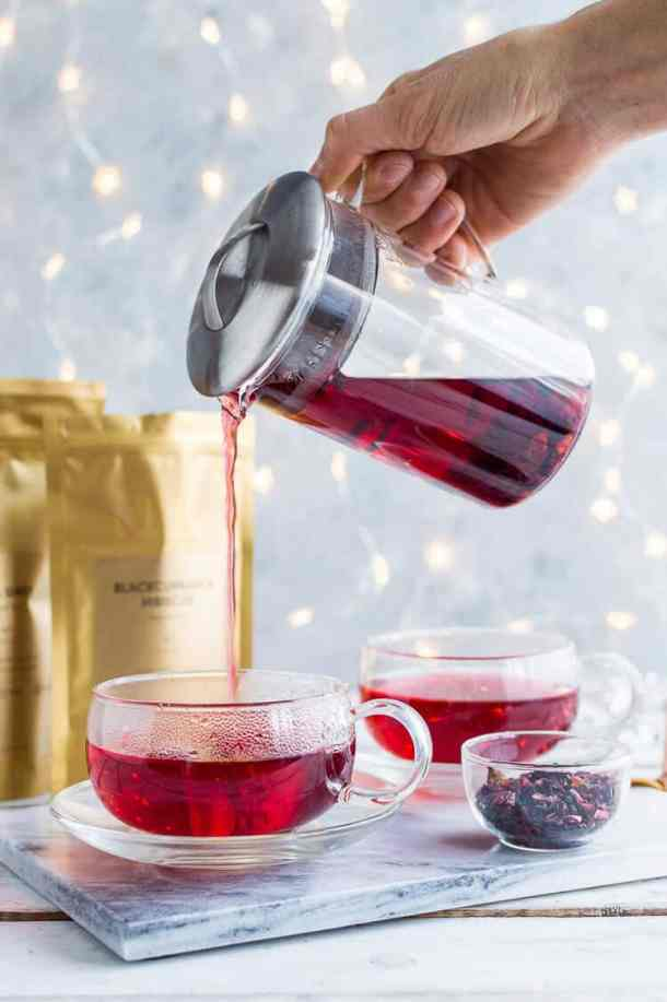 JING glass tea set for two.