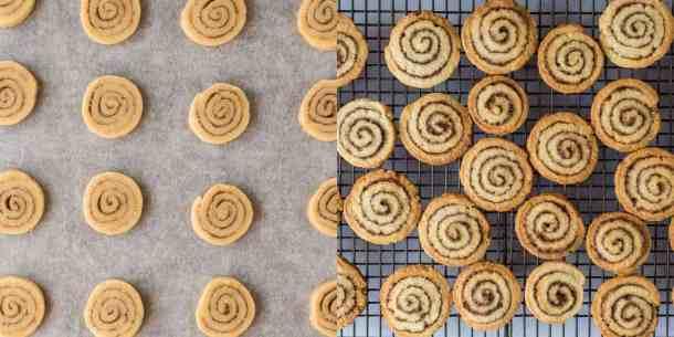 cinnamon swirl cookies step 4 - baking the cookies