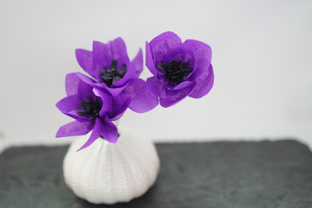 Easy DIY Anemone paper flower