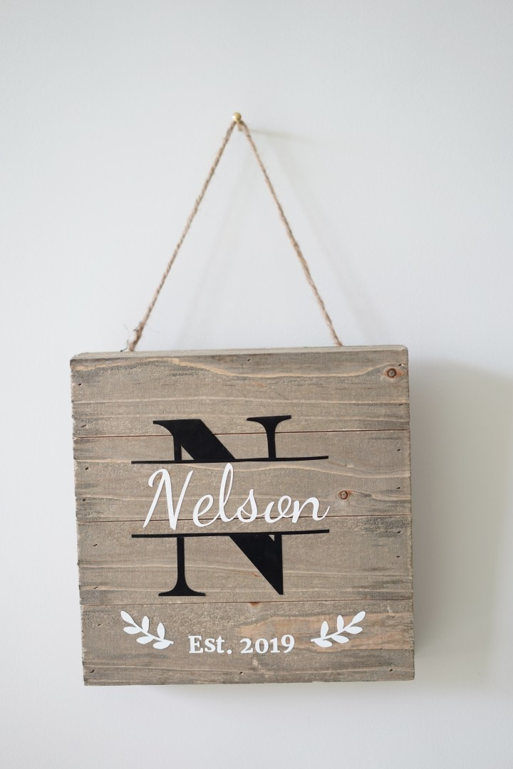 Free DIY Family Established Signs Template
