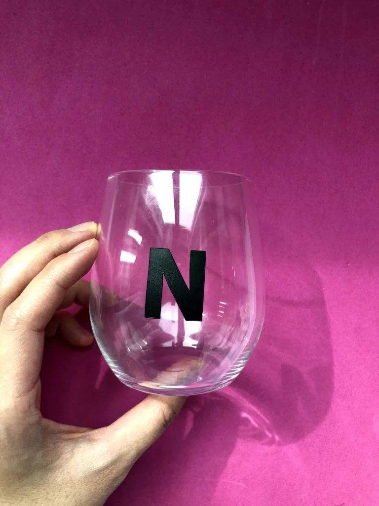 DIY Sharpie Wine Glass