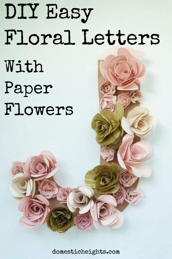 floral letters diy, DIY flower letter decor, DIY Flower letter tutorial