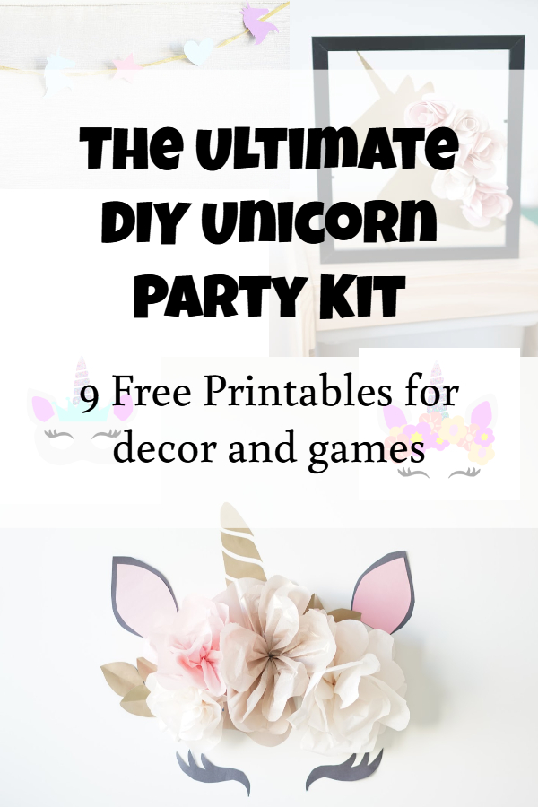 unicorn birthday party printables and ideas