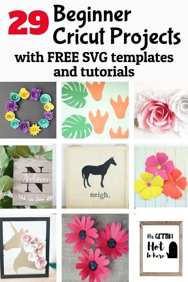 29 Cricut Projects for Beginners with Free SVG Templates - DOMESTIC