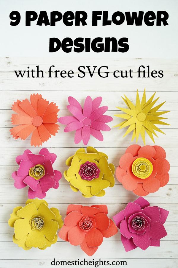 cricut paper flower svg cut files