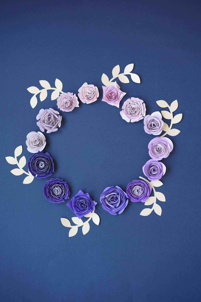 free rolled paper flower svg templates