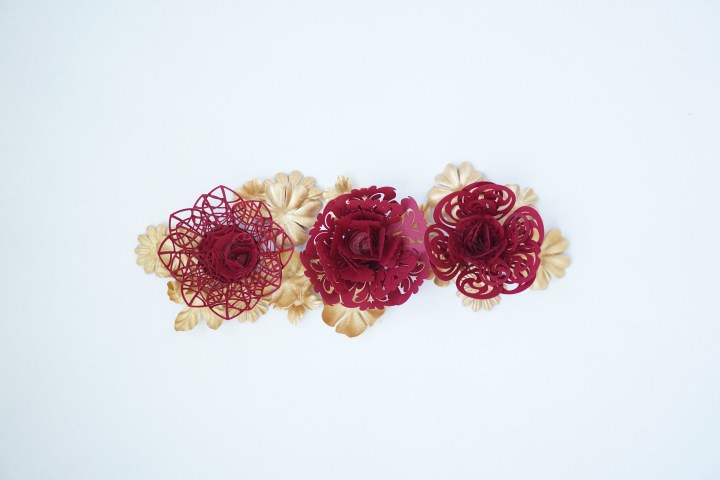 Lace Paper Flowers