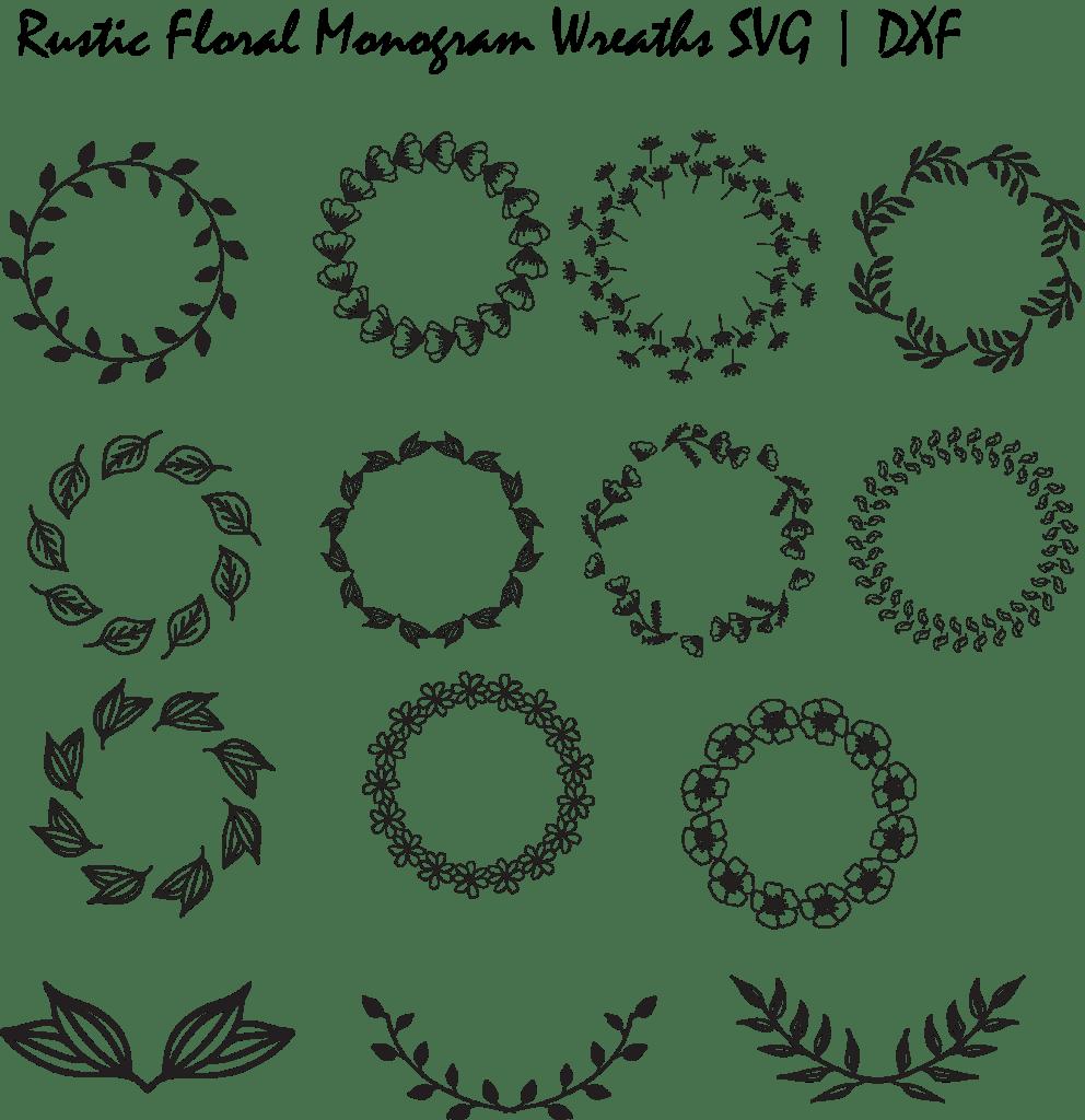 free monogram frame SVG