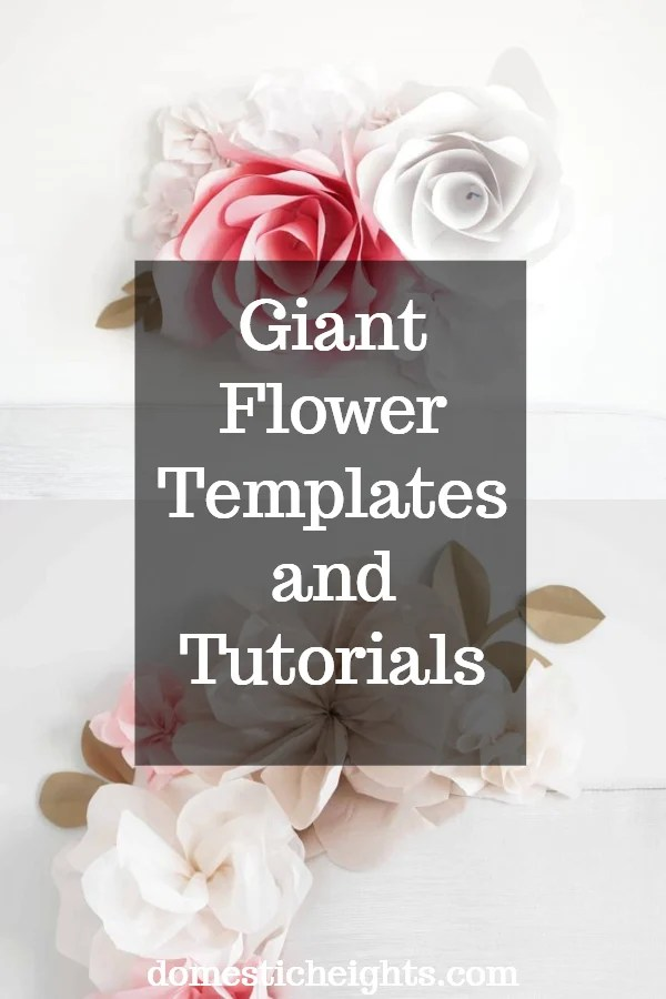 free giant flower svg and printable template