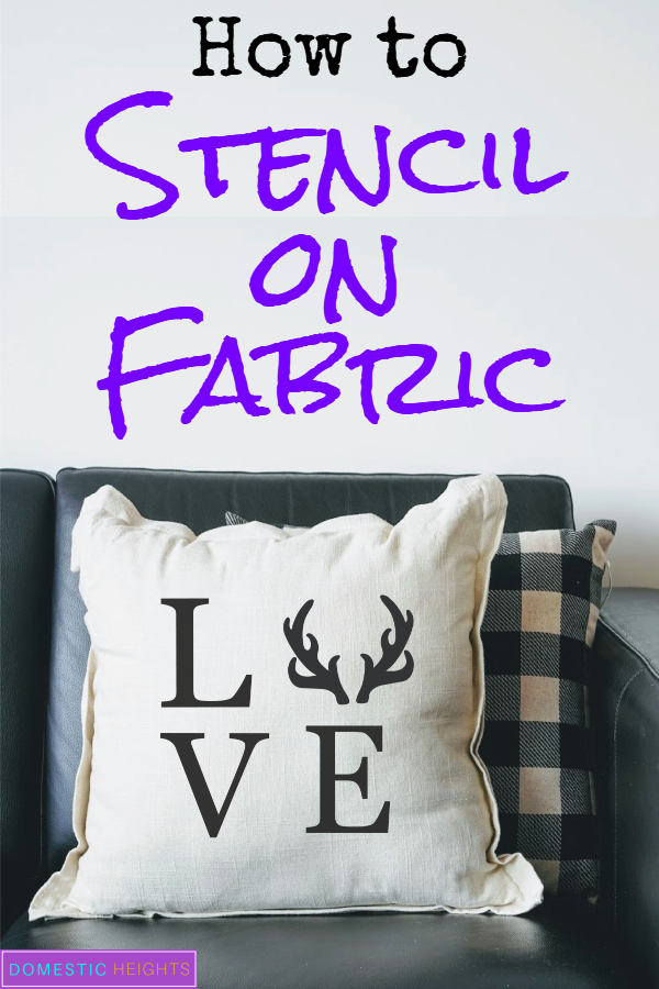 how to stencil letters on fabric
