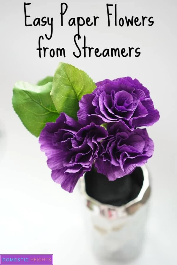easy crepe paper flower templates and tutorials