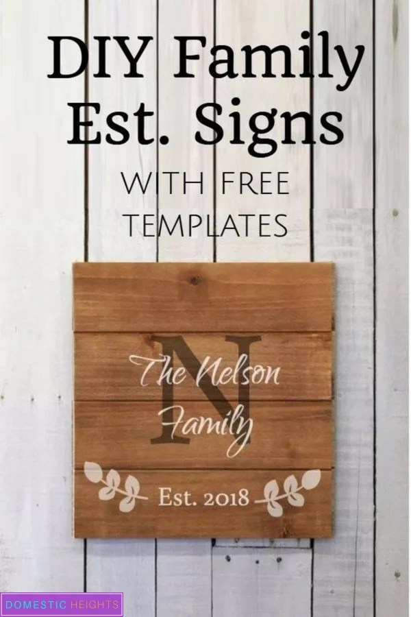 diy family establish sign, farmhouse decor, rustic family signs