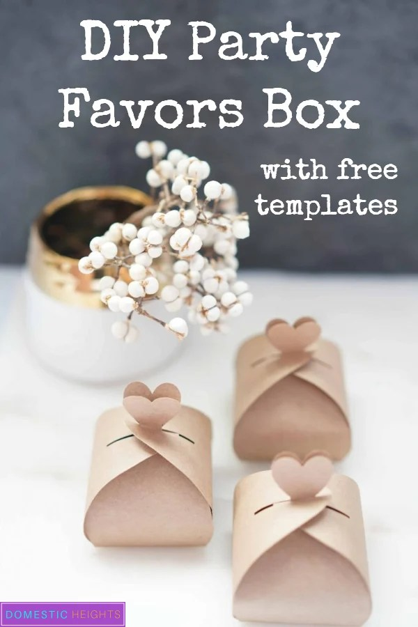 free DIY wedding party favors box template and tutorial