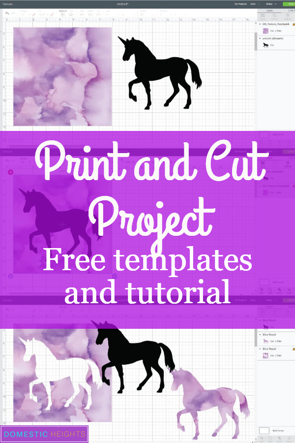 cricut beginners tutorial, cricut iron on project ideas, watercolor unicorn DIY